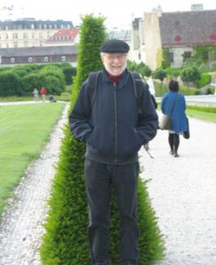 The Author at Belvedere Palace Gardens, Vienna, 5/13/15. Photo: Liz Yamin.